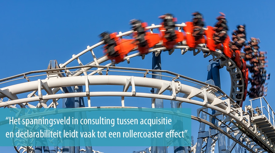 Het rollercoaster effect in consulting