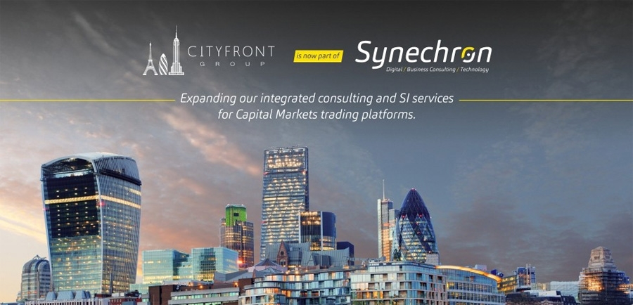 Cityfront Group overgenomen door Synechron