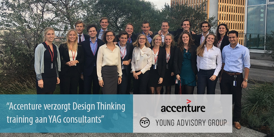 Accenture verzorgt Design Thinking training aan YAG consultants