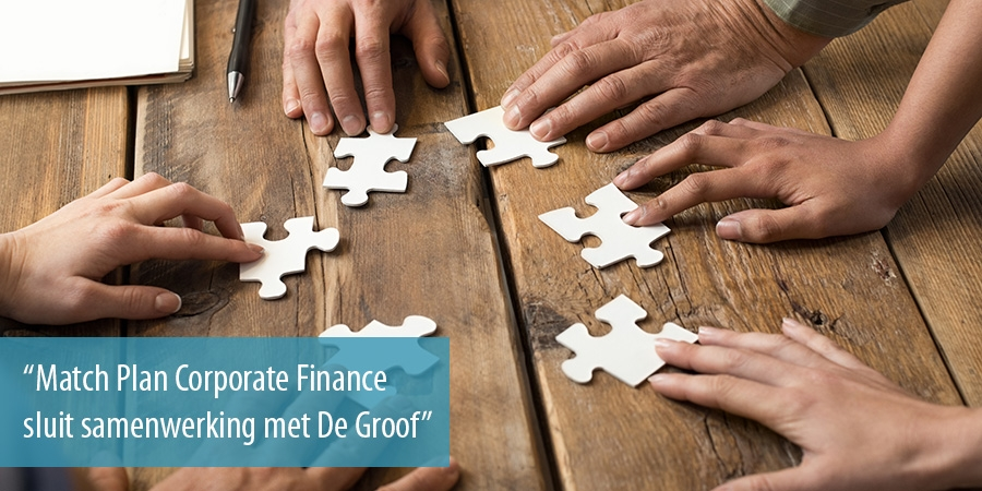 Match Plan Corporate Finance sluit samenwerking met De Groof