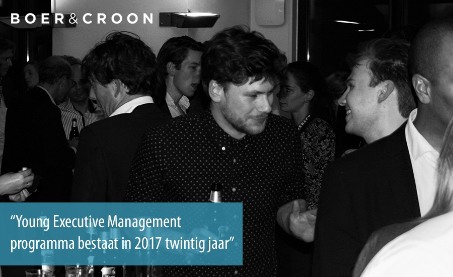 Young Executive Management programma bestaat in 2017 twintig jaar