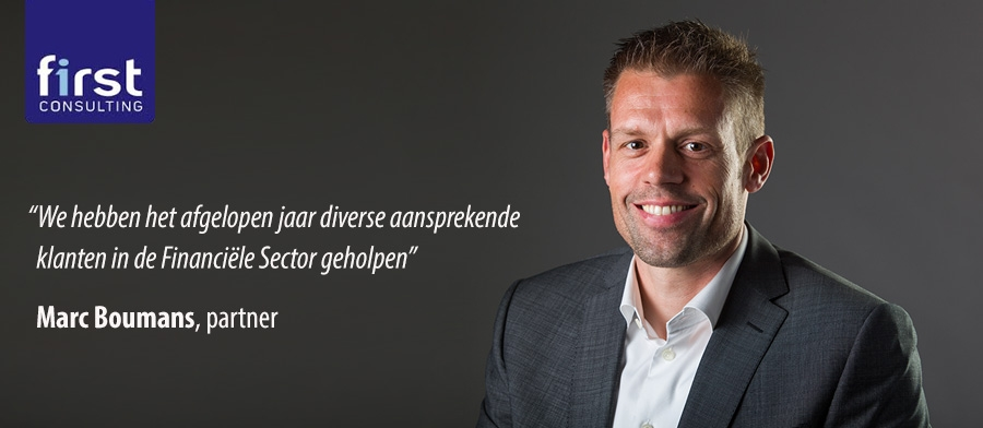 Marc Boumans, partner bij First Cnsulting