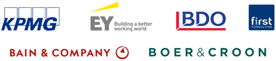 KPMG, EY, BDO, Bain & Company, First Consulting, Boer & Croon
