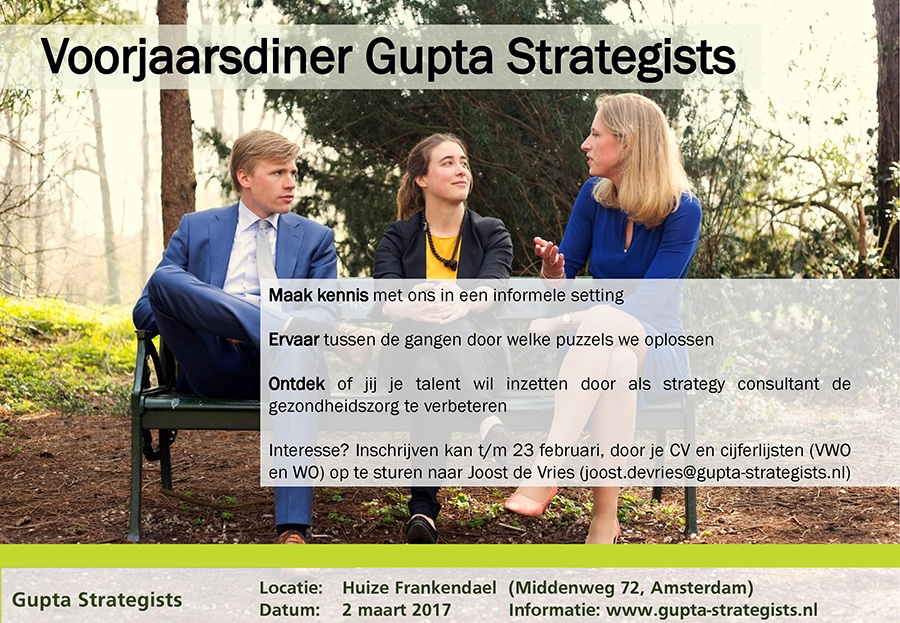 Voorjaarsdiner - Gupta Strategists