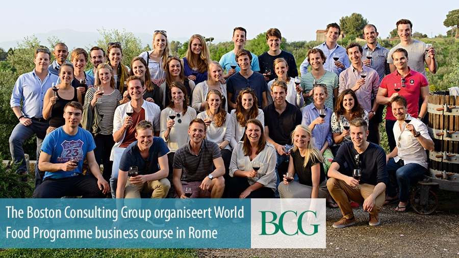 The Boston Consulting Group organiseert World Food Programme business course in Rome