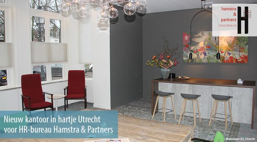 Nieuw kantoor in hartje utrecht voor hr bureau hamstra & partners