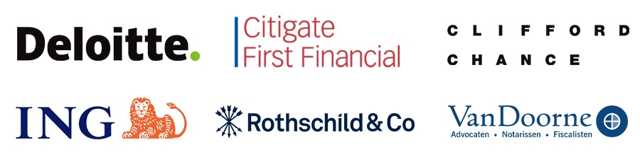 Deloitte, Citigate First Financial, Clifford Chance, ING Bank, Rothschild en Van Doorne