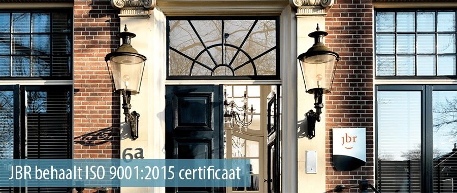 JBR behaalt ISO 9001:2015 certificaat