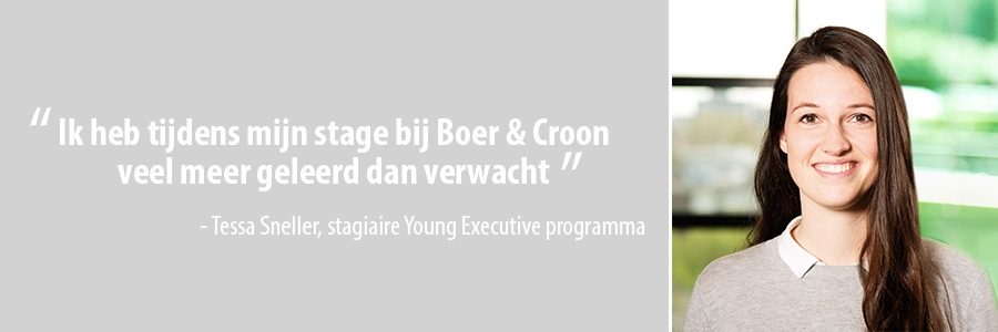 Tessa Sneller, stagiaire Young Executive programma