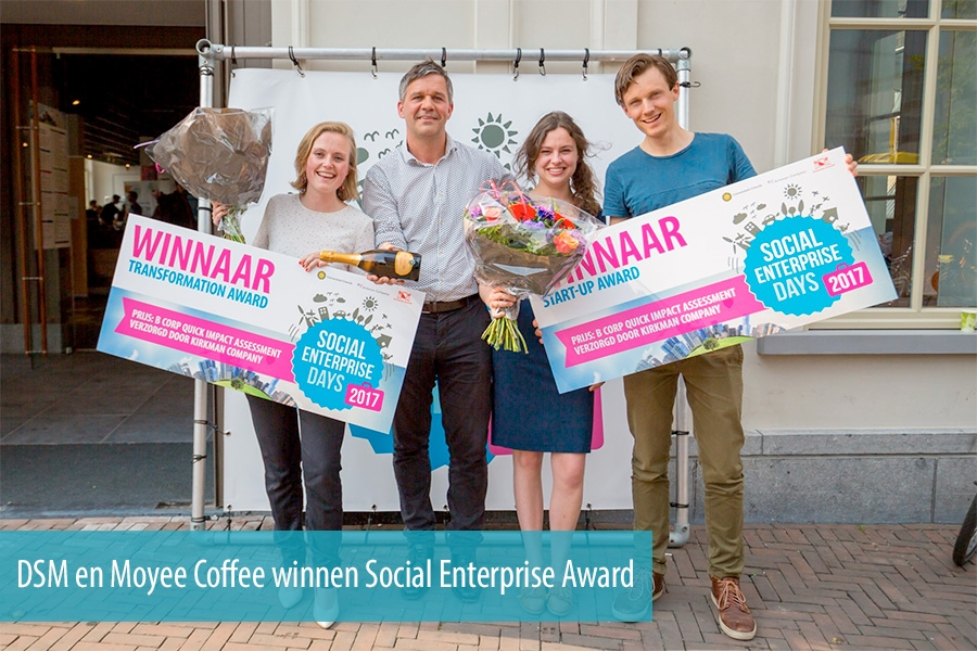 DSM en Moyee Coffee winnen Social Enterprise Award