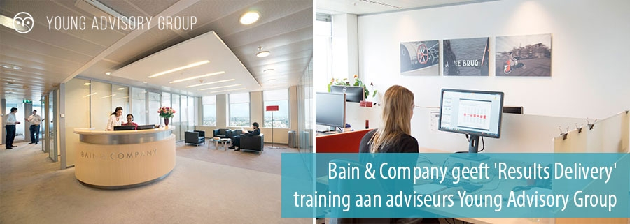 Bain & Company geeft 'Results Delivery' training aan adviseurs Young Advisory Group