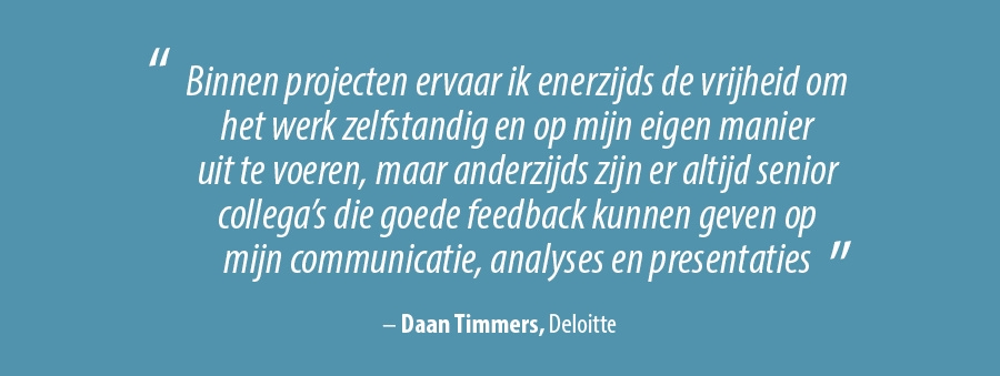 Quote Daan Timmers, Deloitte