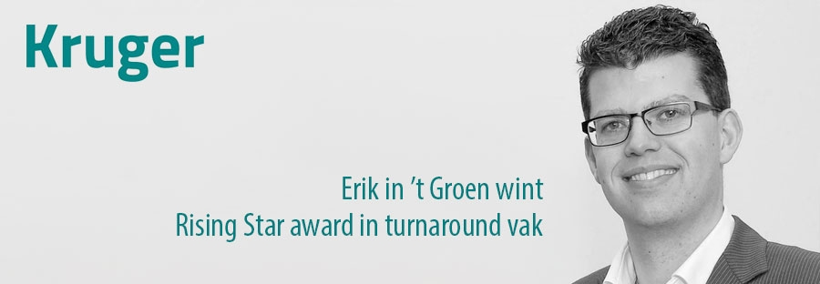 Erik in 't Groen wint Rising Star award in turnaround vak