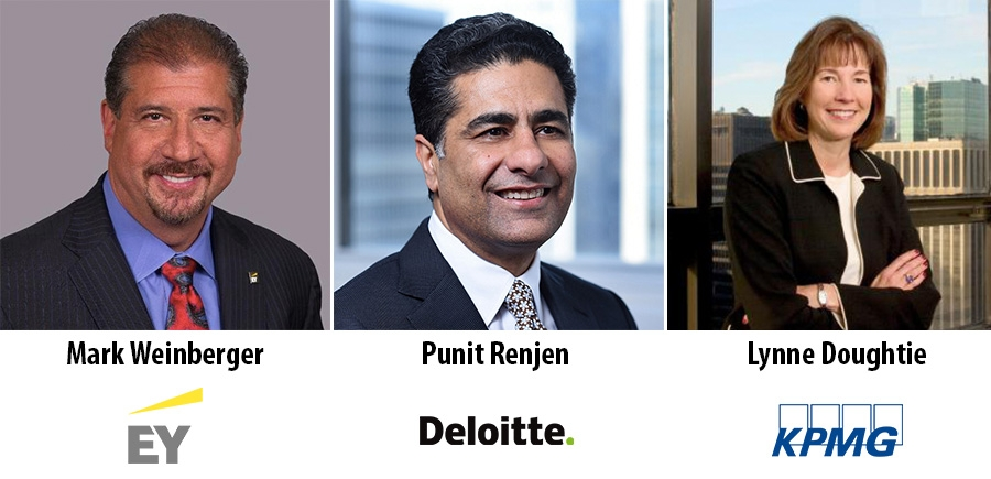Mark Weinberger, Punit Renjen, Lynne Doughtie