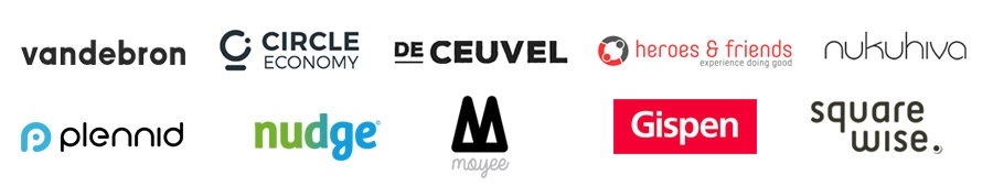 VandeBron - Circle Economy - De Ceuvel - Heroes & Friends - Nukuhiva - Plennid  - Nudge - Moyee Coffee - Gispen - Squarewise