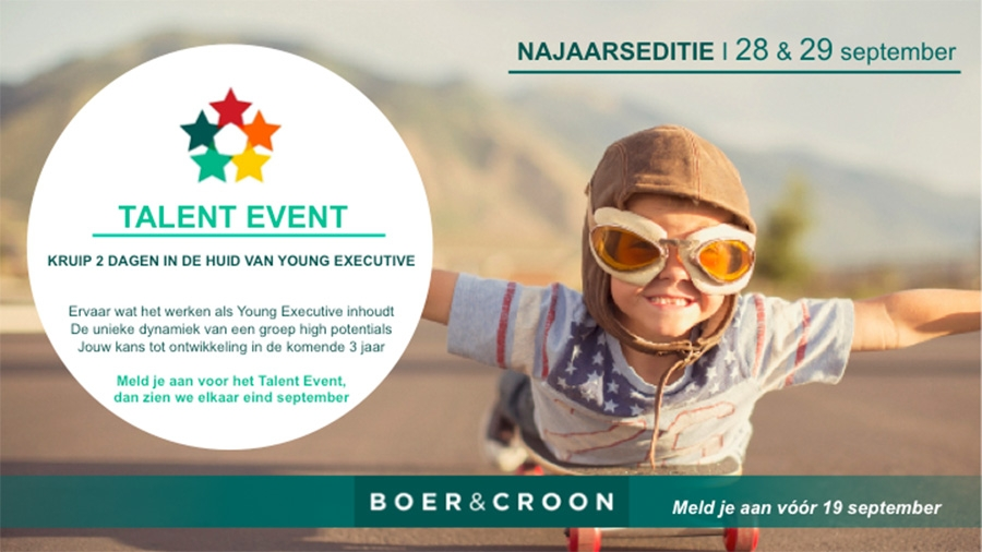 Boer & Croon - Talent Event