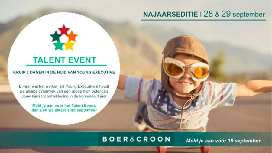 Boer & Croon Talent Event 2017