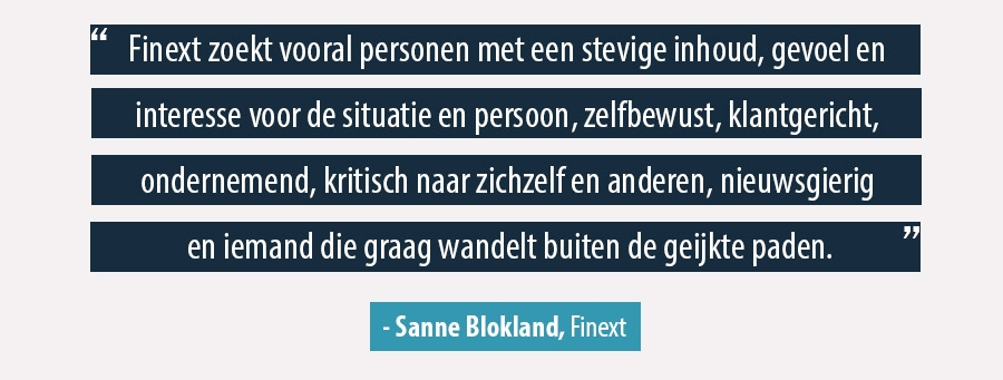 Quote Sanne Blokland, Finext