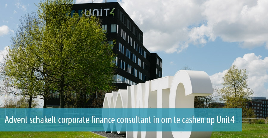 Advent schakelt corporate finance consultant in om te cashen op Unit4