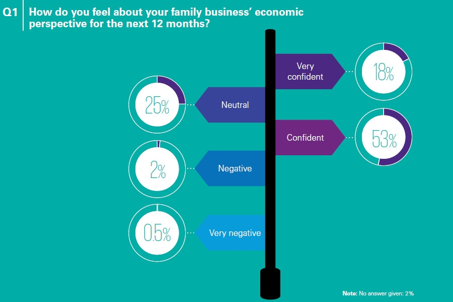 How do you feel about your family business' economic perspective for the next 12 months