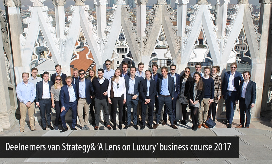 Deelnemers van Strategy& 'A Lens on Luxury' business course 2017