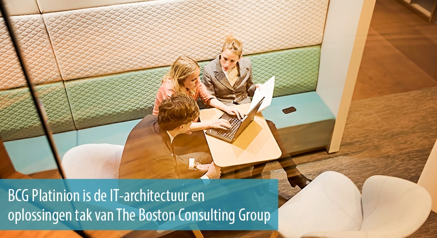 BCG Platinion is de IT-architectuur en oplossingen tak van The Boston Consulting Group