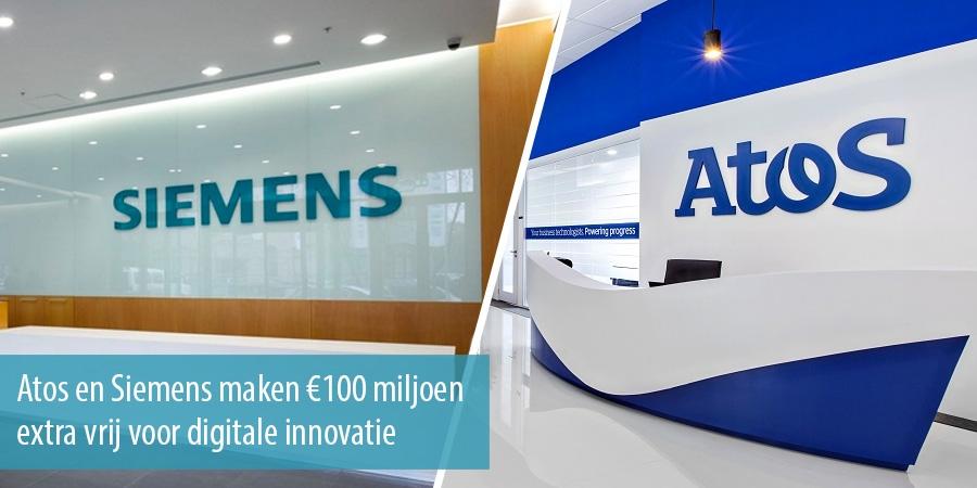 Atos en Siemens maken €100 miljoen extra vrij voor