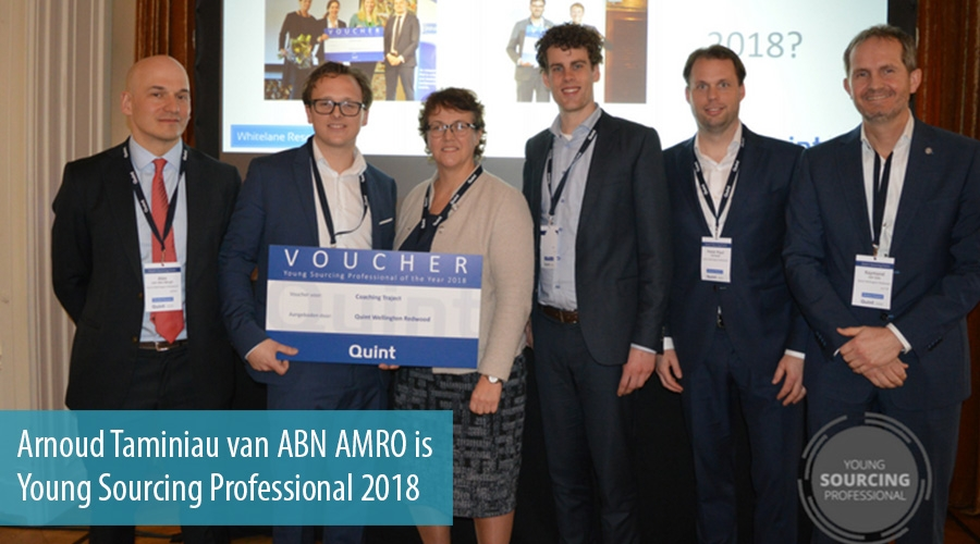 Arnoud Taminiau van ABN AMRO is Young Sourcing Professional 2018