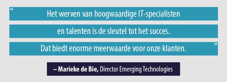 Quote Marieke de Bie, Director Emerging Technologies