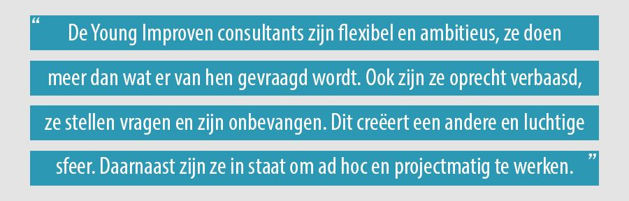 De Young Improven consultants zijn flexibel en ambitieus