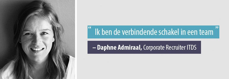 Quote Daphne Admiraal, Corporate Recruiter ITDS