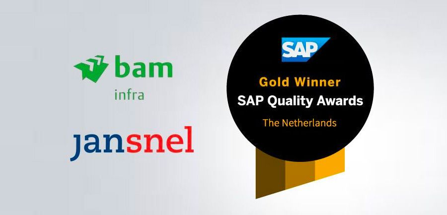 BAM Infra Nederland en Jan Snel Group winnen SAP Nederland Quality Award