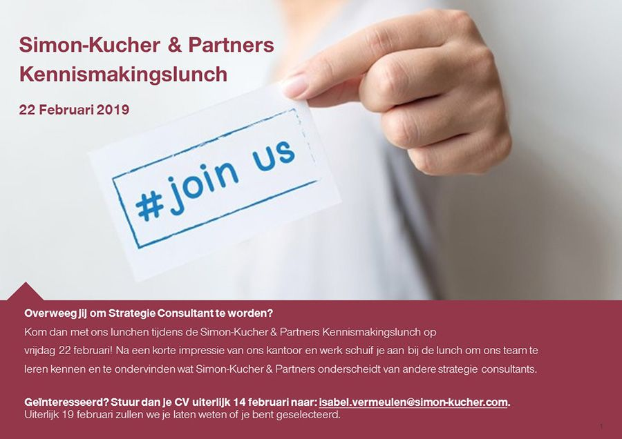 Simon Kucher Partners - kennismakingslunch