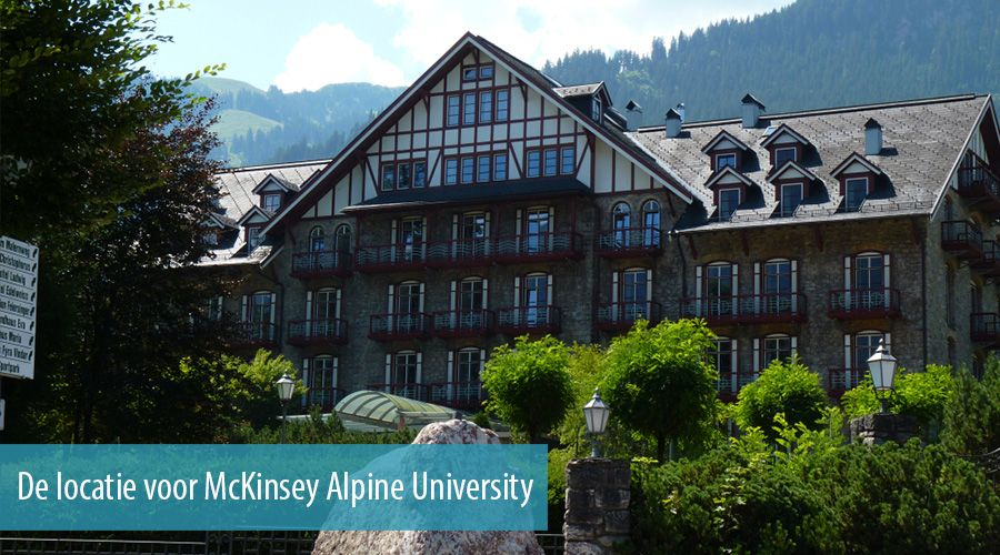 Alpine business course is de manier om McKinsey te leren kennen
