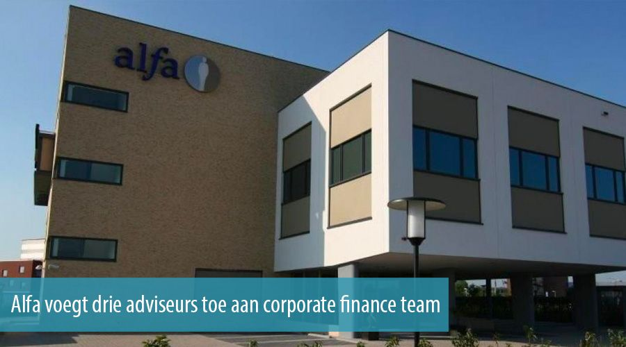 Alfa voegt drie adviseurs toe aan corporate finance team