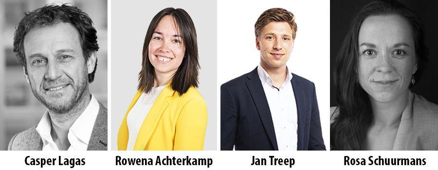 Casper Lagas, Rowena Achterkamp, Jan Treep en Rosa Schuurmans