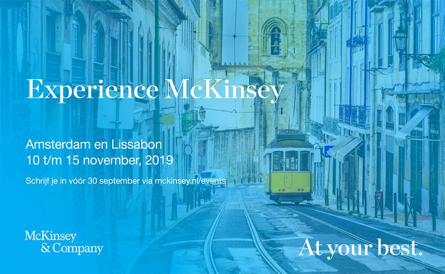 Drie starters over de Experience McKinsey business course