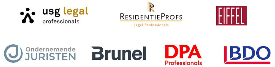USG Legal Professionals, Residentieprofs, Eiffel, Brunel, Ondernemende Juristen, DPA en BDO Legal