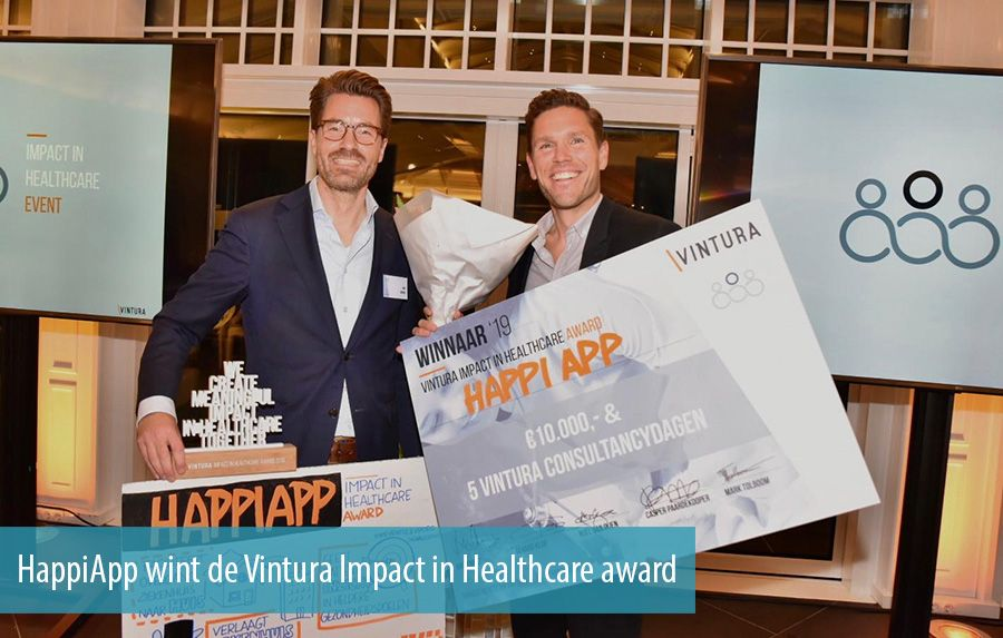 HappiApp wint de Vintura Impact in Healthcare award
