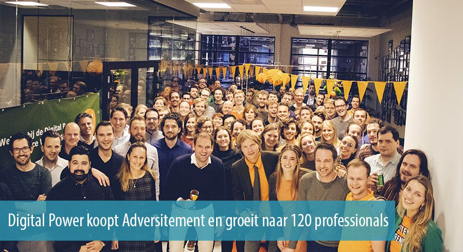 Digital Power koopt Adversitement en groeit naar 120 professionals
