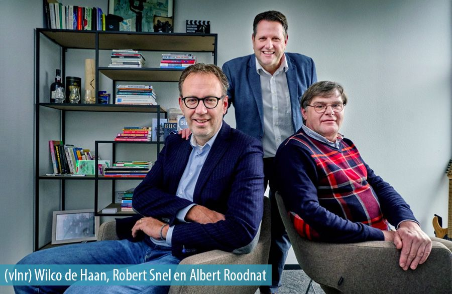 (vlnr) Wilco de Haan, partner; Robert Snel, founding partner; Albert Roodnat, data-analist