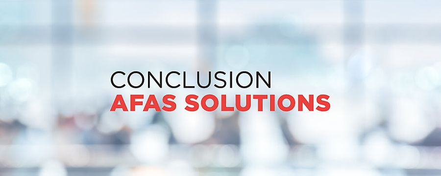 Conclusion AFAS Solutions ontzorgt AFAS-implementaties