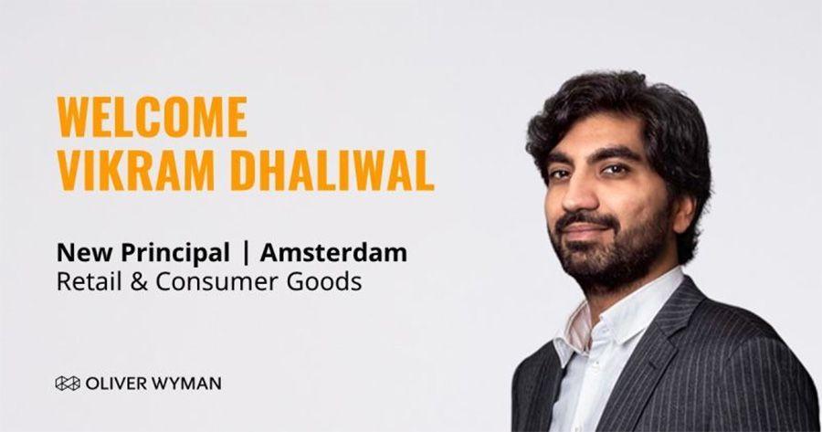 Oliver Wyman benoemt Vikram Dhaliwal tot Principal in Amsterdam