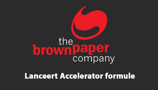 The Brown Paper Company lanceert Accelerator formule