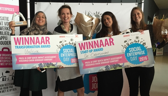 Unilever en De Correspondent winnen Social Enterprise Awards 2016
