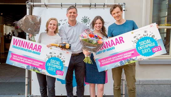 DSM en Moyee Coffee winnen Social Enterprise Awards 2017