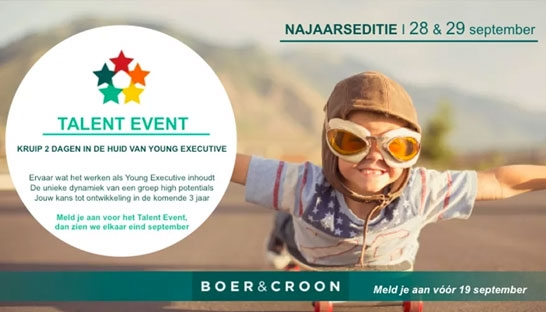 Deelnemer Alex Crick over het Talent Event van Boer & Croon
