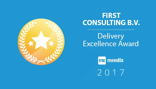 First Consulting ontvangt Delivery Excellence Award van Mendix