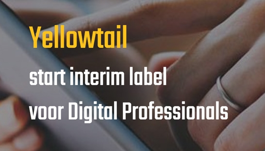 Yellowtail start interim label voor Digital Professionals in de financiële sector