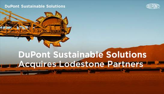 DuPont Sustainable Solutions koopt mijnbouwconsultancy